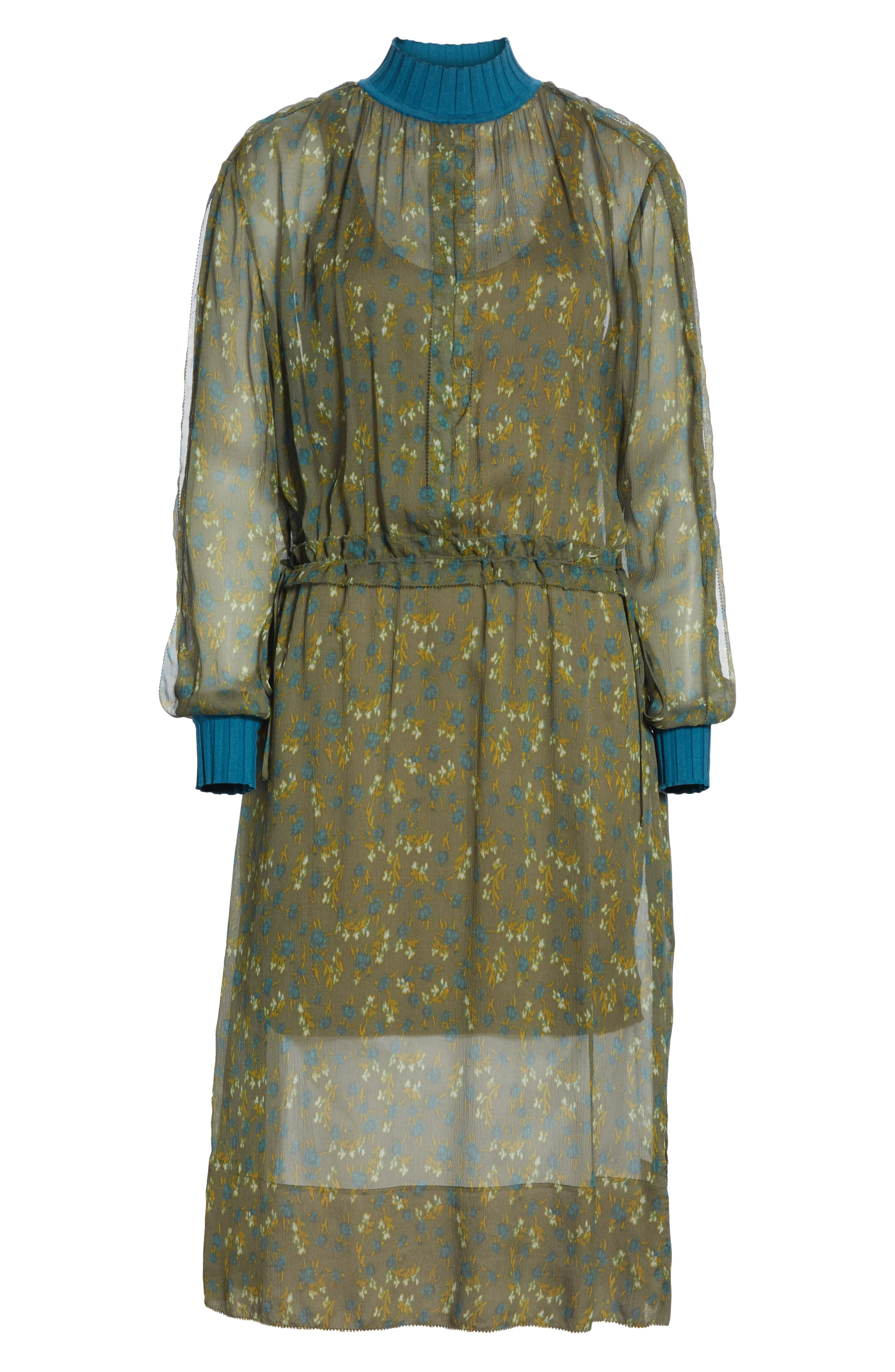 ,                             Dinah Silk Dress,                             Alternate thumbnail 13, color,                             346
