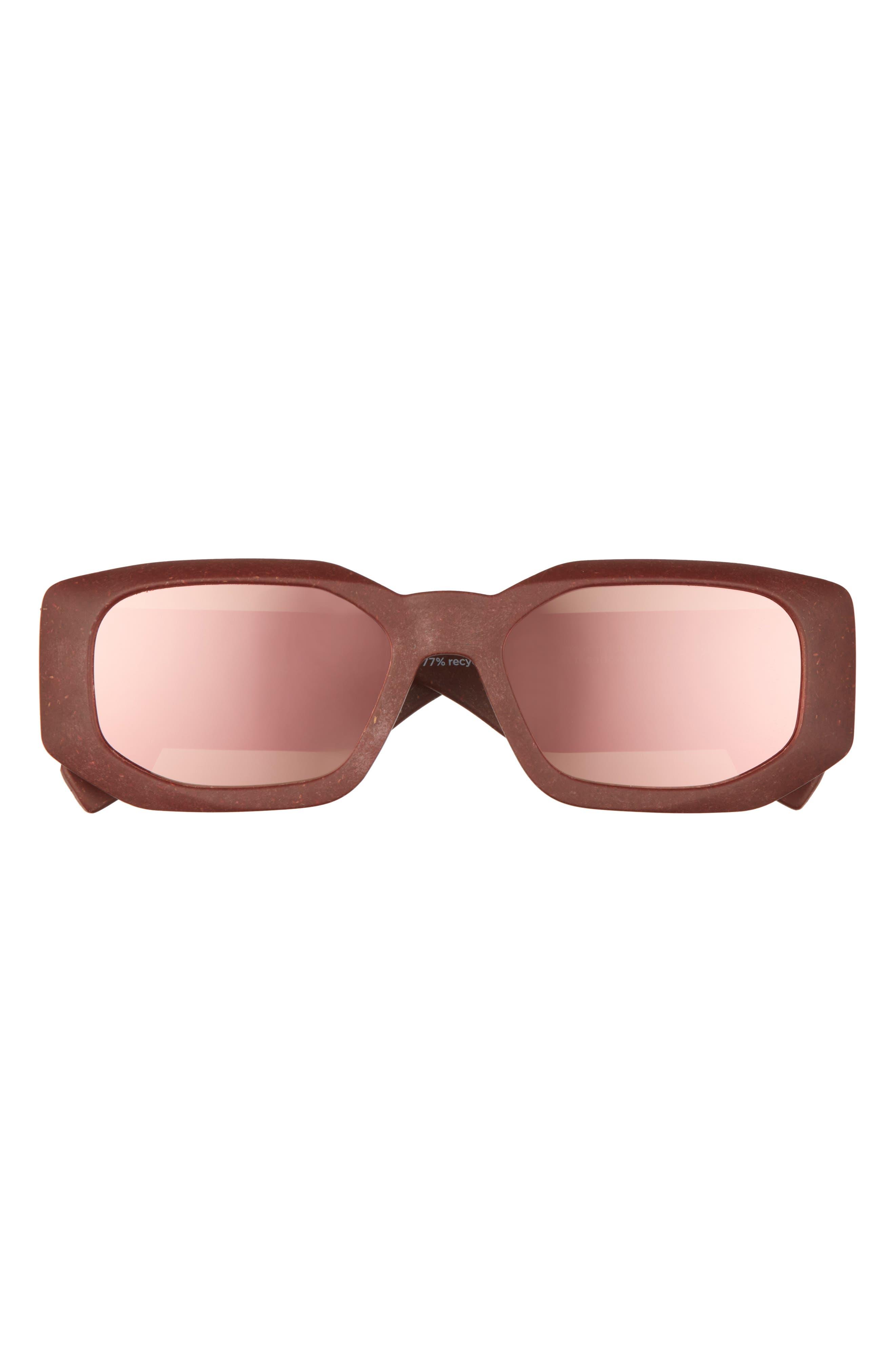 Glass Half Full 54mm Rectangular Sunglasses