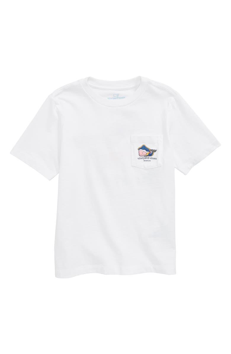 VINEYARD VINES Boston Whale Pocket T-Shirt, Main, color, WHITE CAP