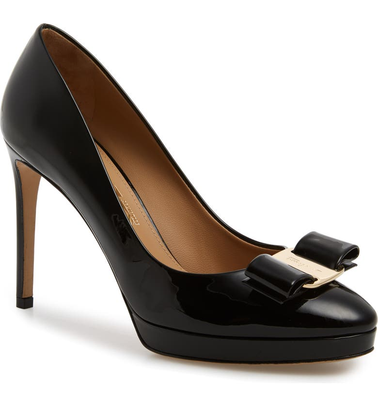 SALVATORE FERRAGAMO Osimoglit Platform Pump, Main, color, BLACK