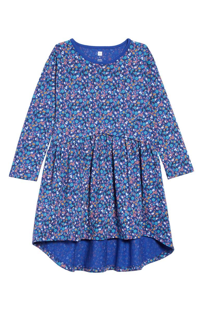 Tea Collection Print Asymmetrical Wrap Dress Toddler Girls Little Girls Big Girls