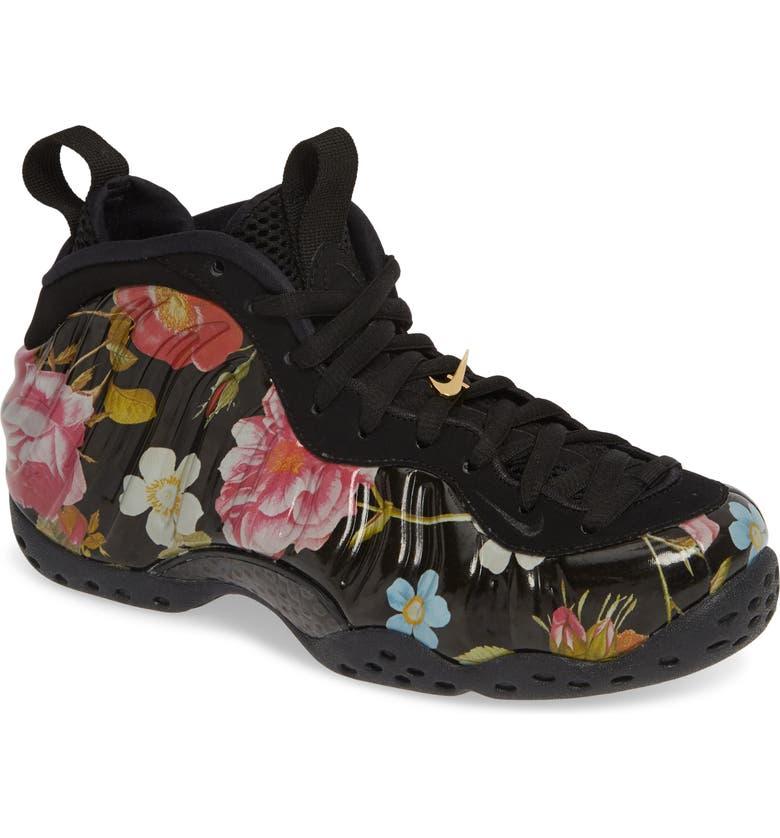 37acbda8db Air Foamposite One Sneaker, Main, color, BLACK/ BLACK-METALLIC GOLD