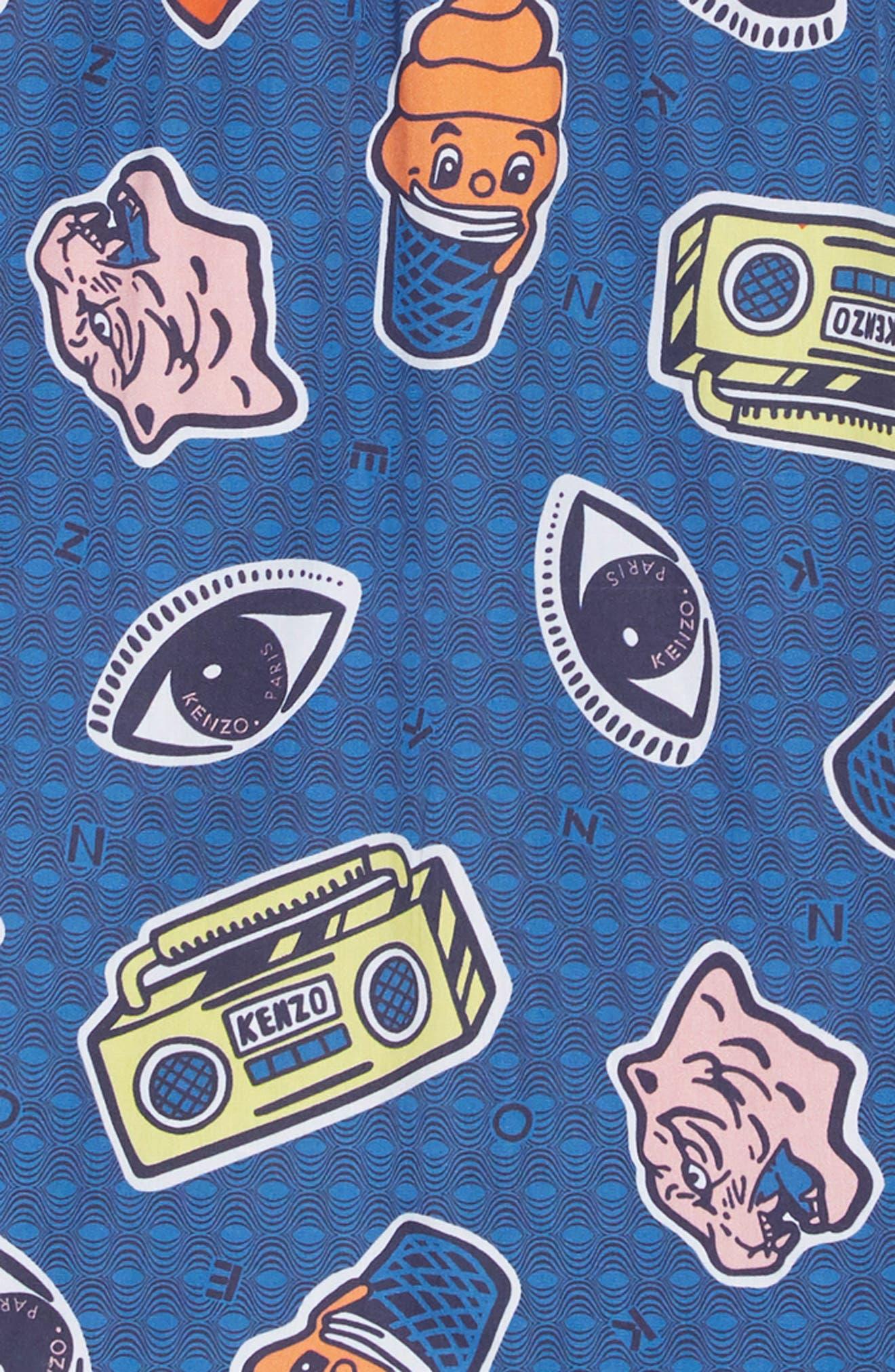 ,                             Ruffle Hem Mixed Media Dress,                             Alternate thumbnail 3, color,                             MARL GREY