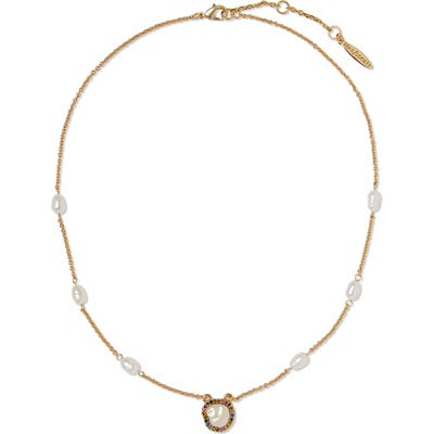 Sole Society Pearl Play Pendant Necklace