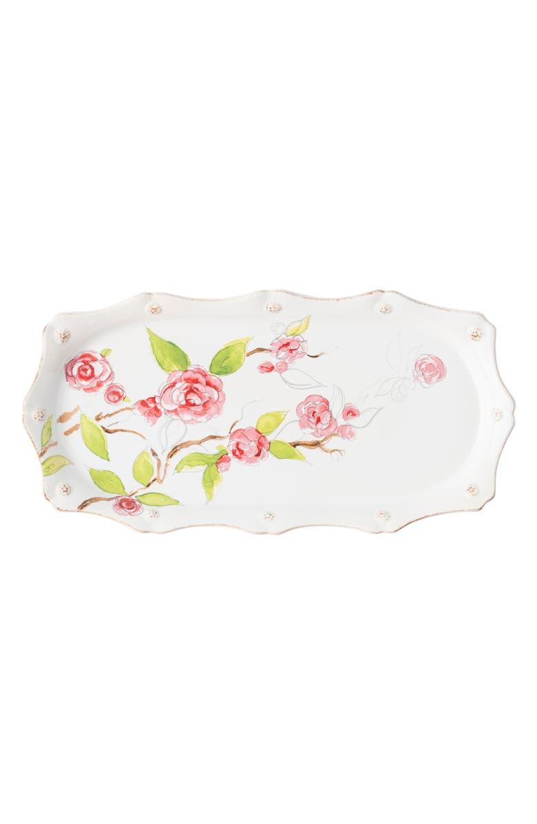 JULISKA Camellia Hostess Tray, Main, color, WHITE MULTI
