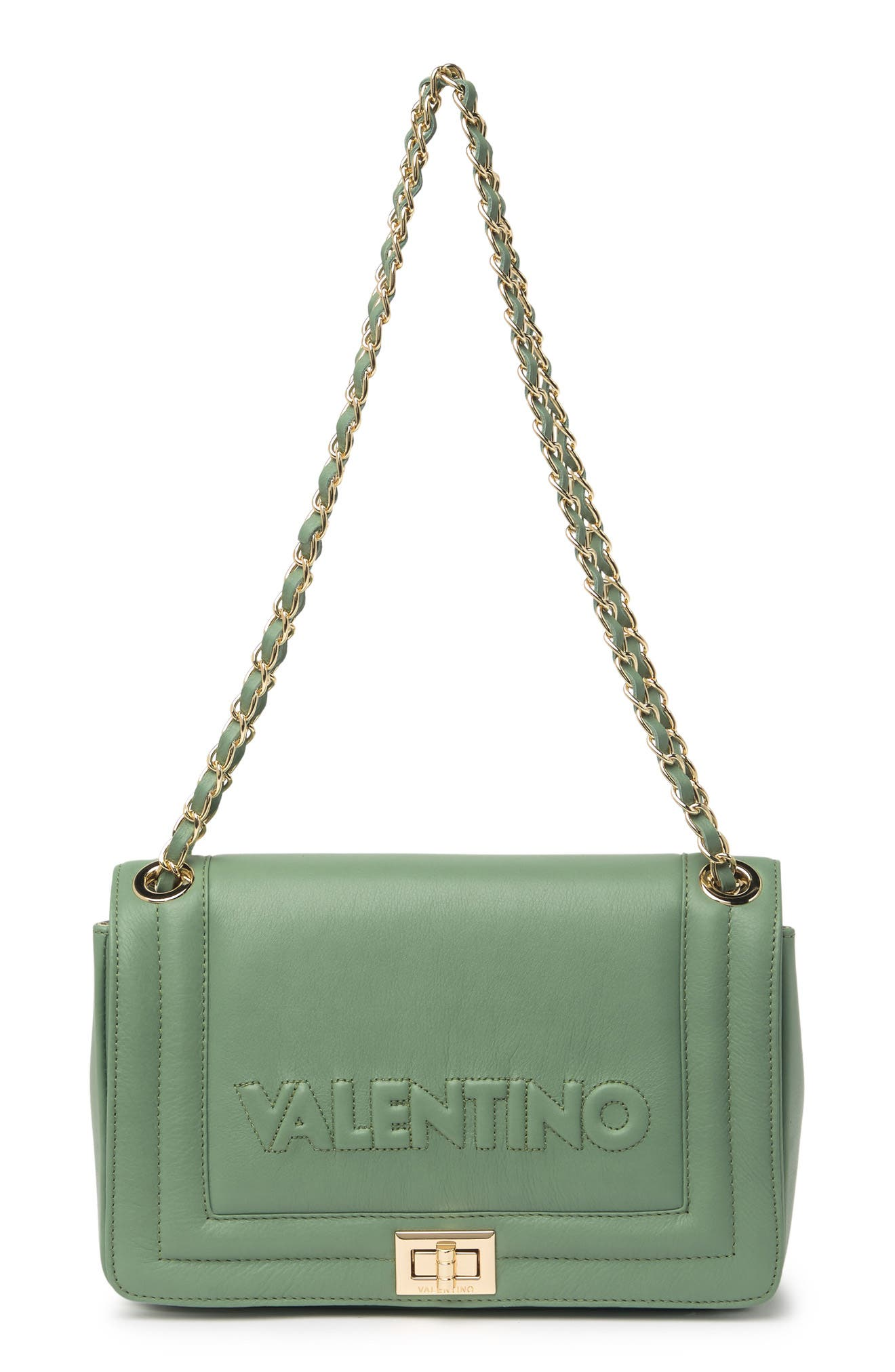 Image of Valentino By Mario Valentino Alice Sauvage Leather Shoulder Bag