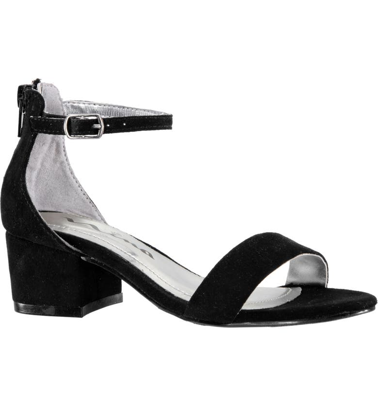 NINA Hidi Sandal, Main, color, BLACK MICROSUEDE