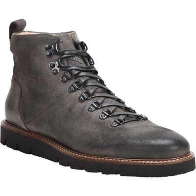 Ross & Snow Stefano Hiking Boot With Genuine Shearling Insole, Grey