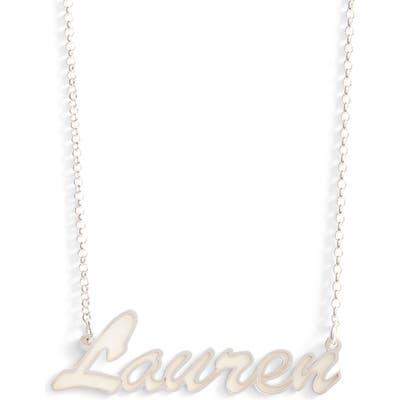Argento Vivo Personalized Enamel Script Necklace