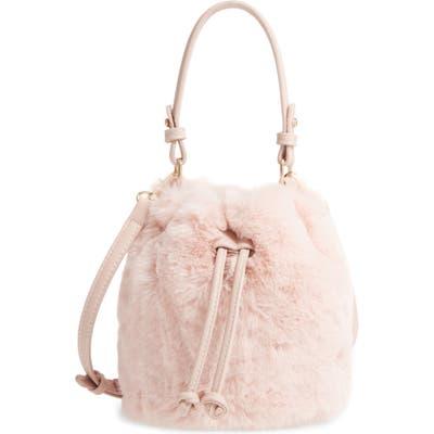 Bp. Furry Faux Fur Crossbody Bag - Pink