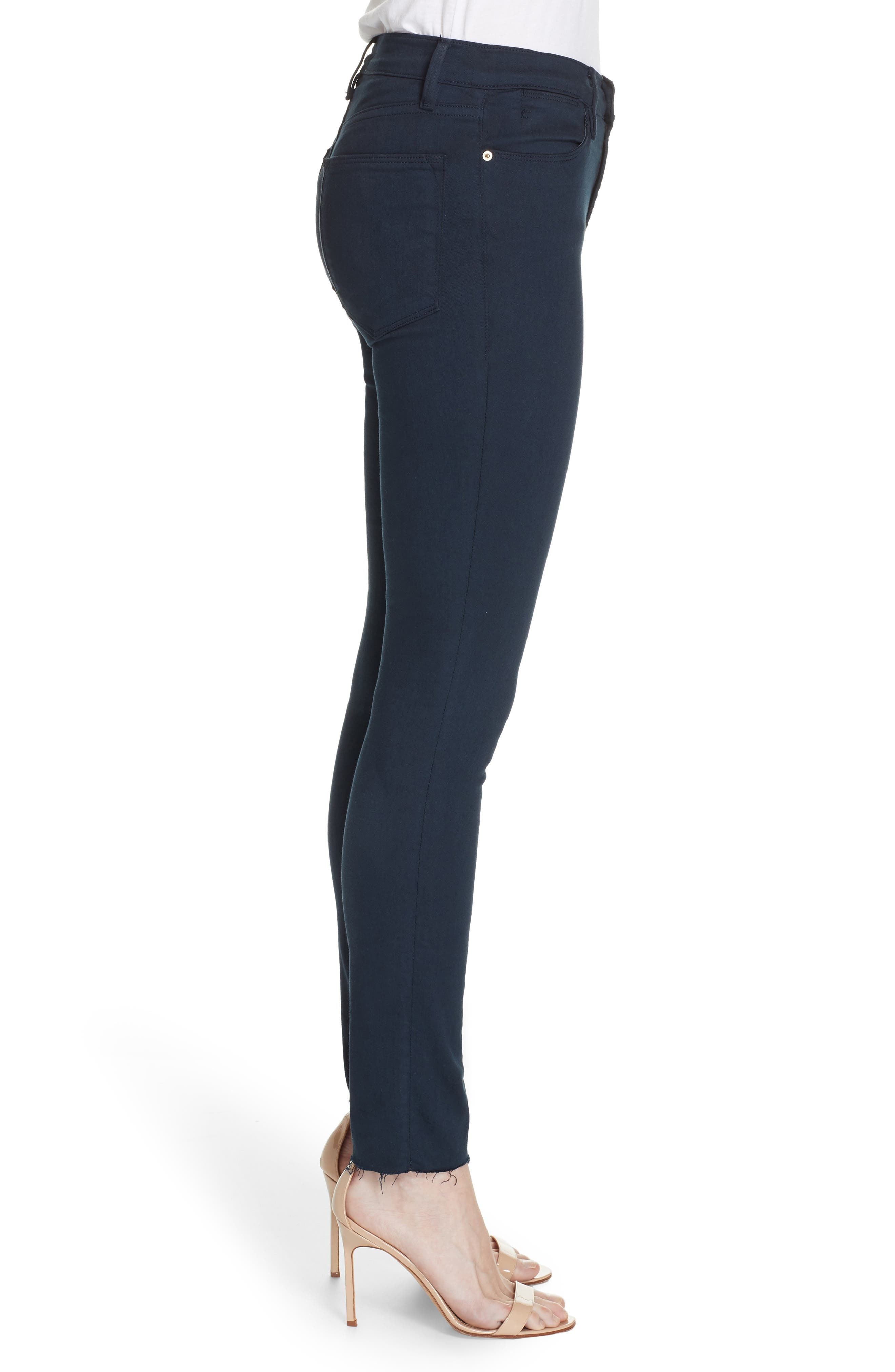,                             Le High Raw Hem Ankle Skinny Jeans,                             Alternate thumbnail 22, color,                             410