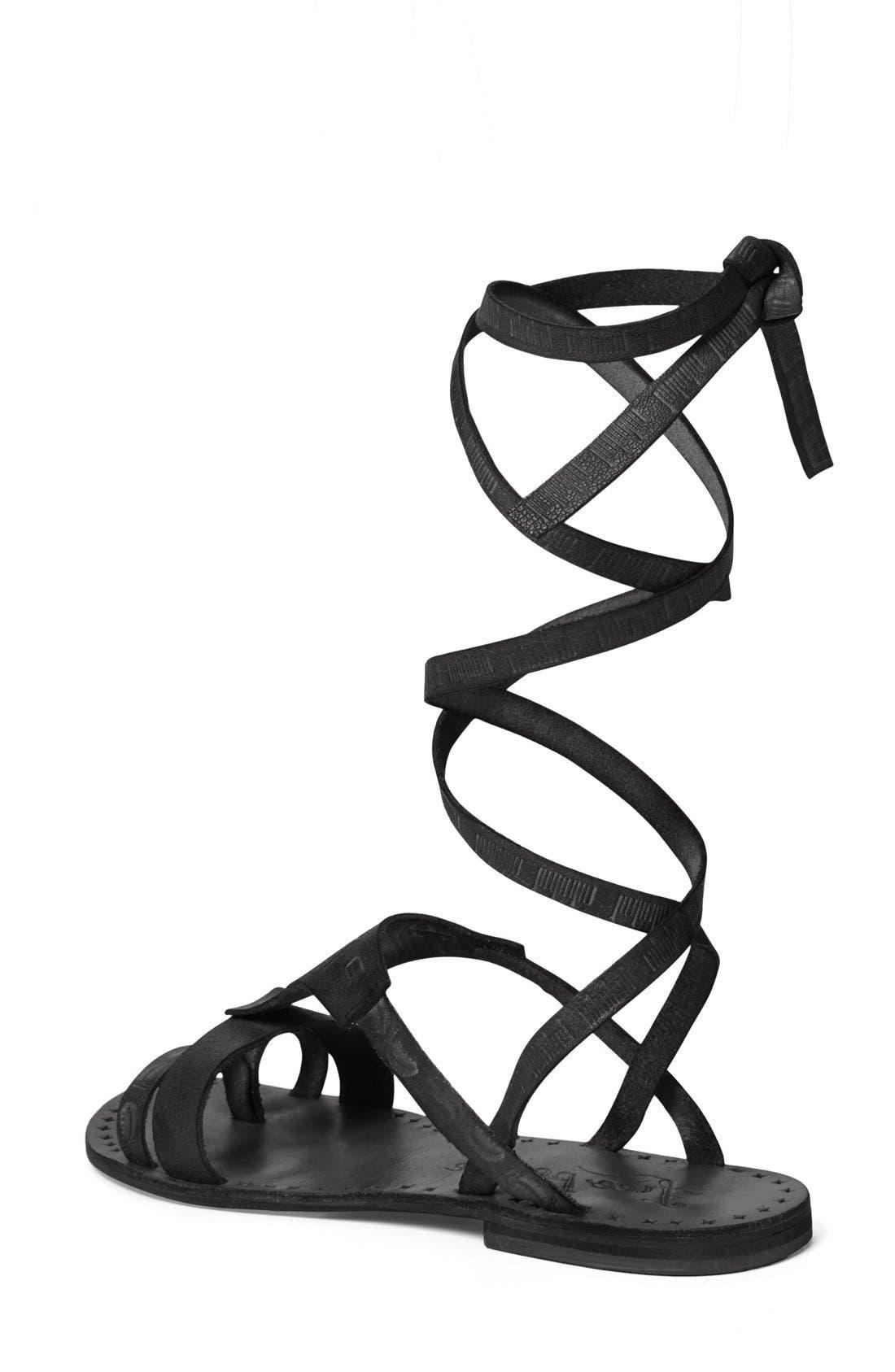 ,                             'Oliviera' Gladiator Sandal,                             Alternate thumbnail 3, color,                             001