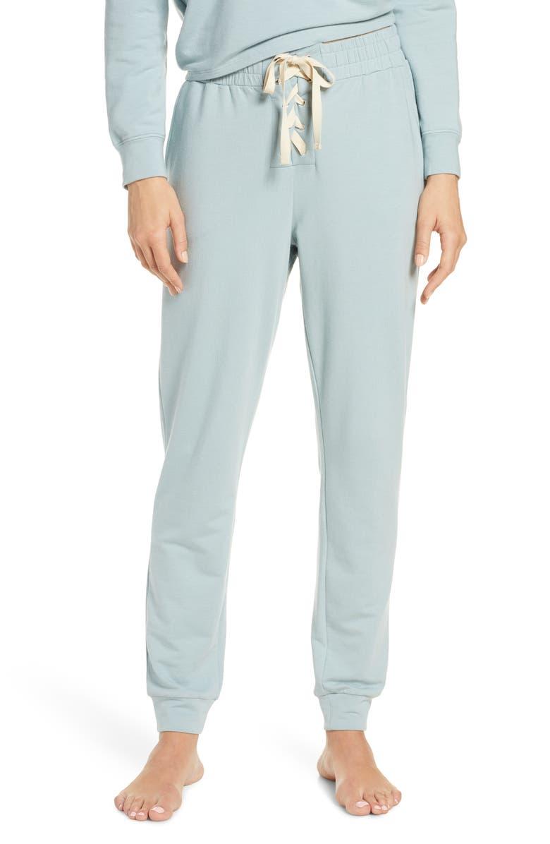 EBERJEY Mason Lace-Up Pajama Jogger Pants, Main, color, 020