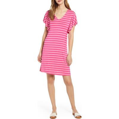Tommy Bahama Nolina Ruffle Sleeve Dress, Pink