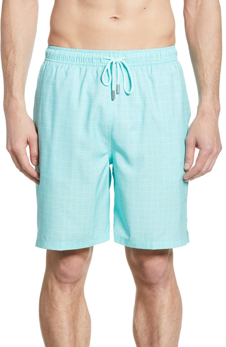 PETER MILLAR Wilmington Wicker Swim Trunks, Main, color, SEAGLASS