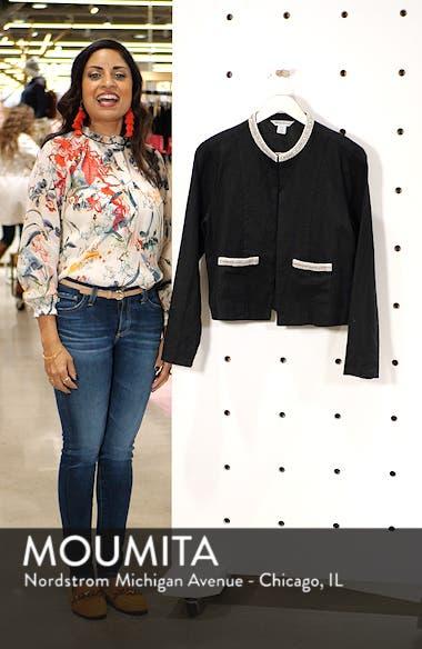 Embellished Lux Linen Jacket, sales video thumbnail