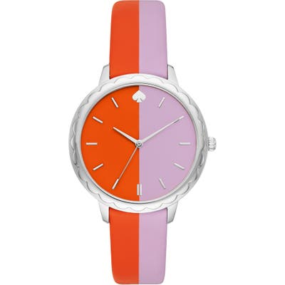 Kate Spade New York Morningside Scallop Leather Strap Watch,