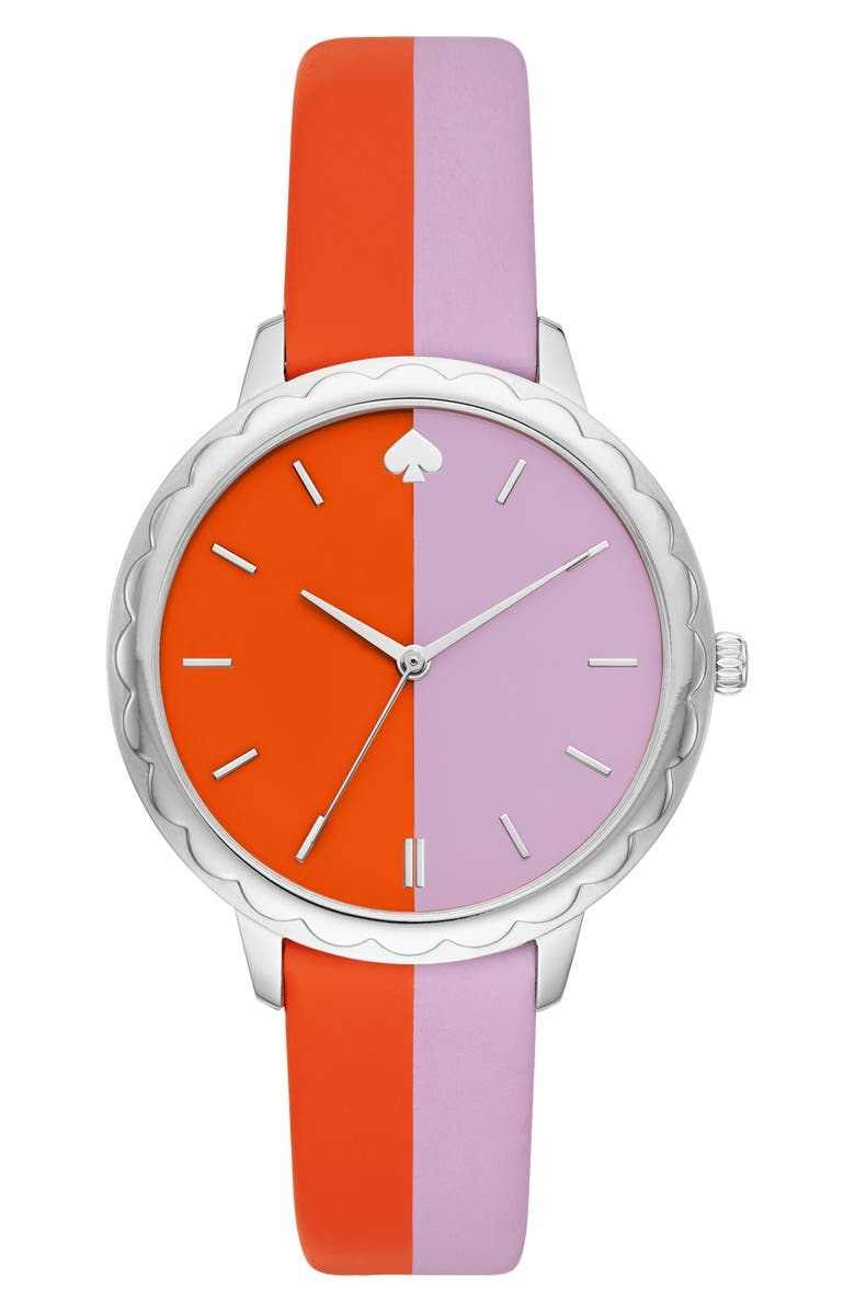 Kate Spade New York Morningside Scallop Leather Strap Watch 38mm