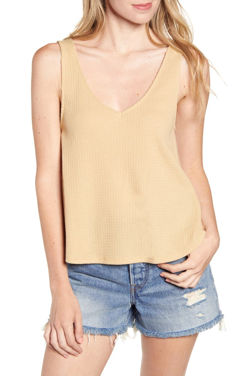 PST BY PROJECT SOCIAL T Textured Swing Tank, Main, color, ICED COFFEE