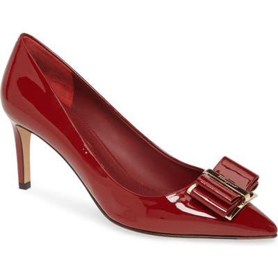Salvatore Ferragamo Zeri Bow Pointed Toe Pump, Red
