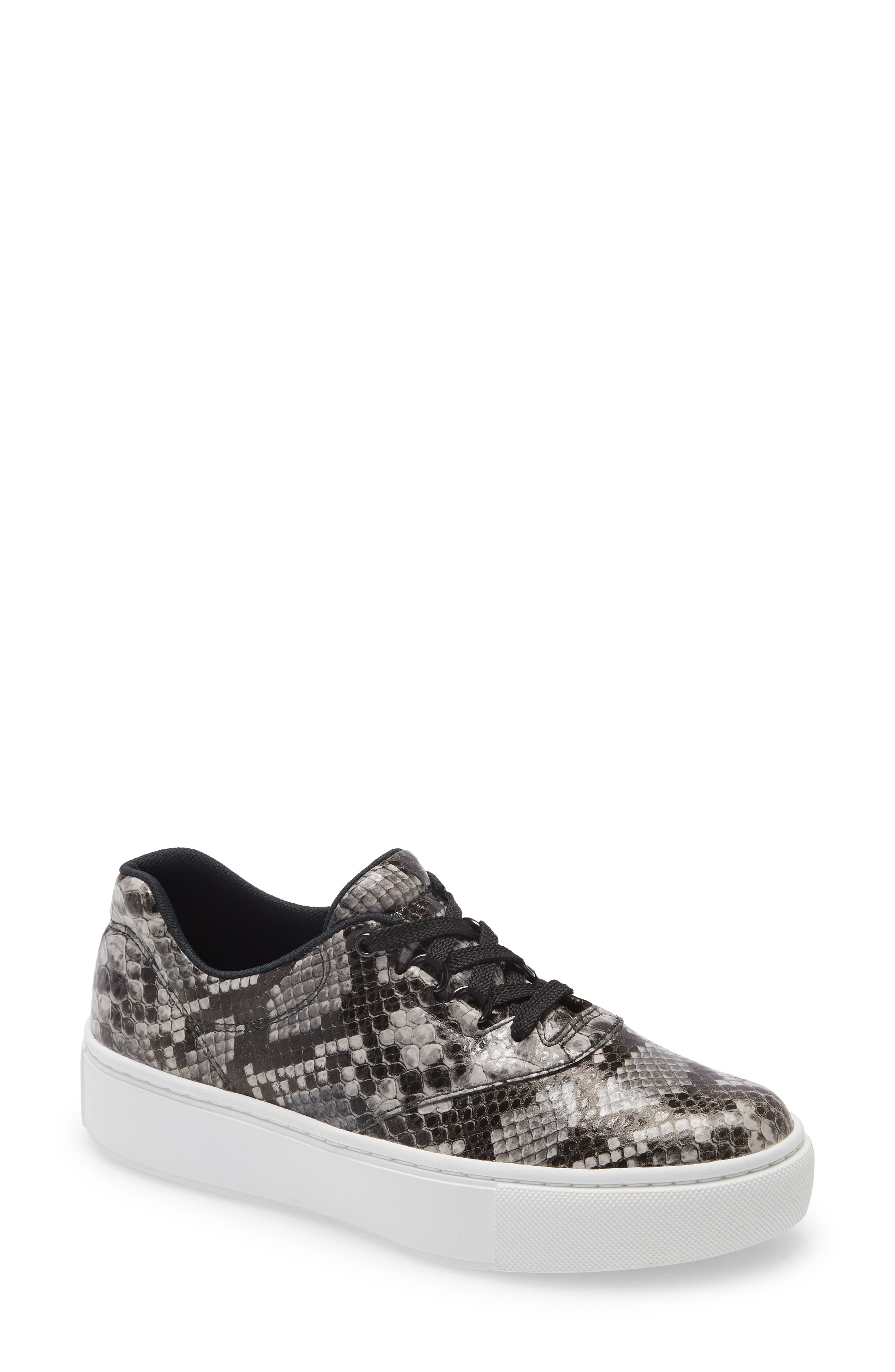 A speckled platform adds fashionable lift to a fan-favorite sneaker designed with a roomy toe box, anti-microbial moisture-wicking lining and cushy footbed. Style Name: Sas Free Rein Platform Sneaker (Women). Style Number: 6161294. Available in stores.