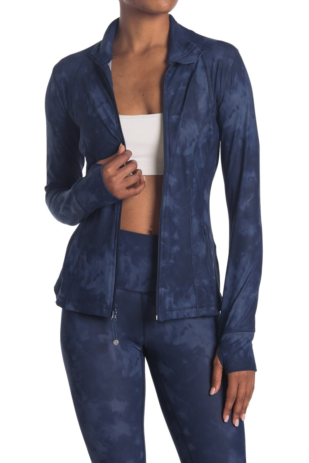 Image of 90 Degree By Reflex Nude Tech Printed Full Zip Jacket