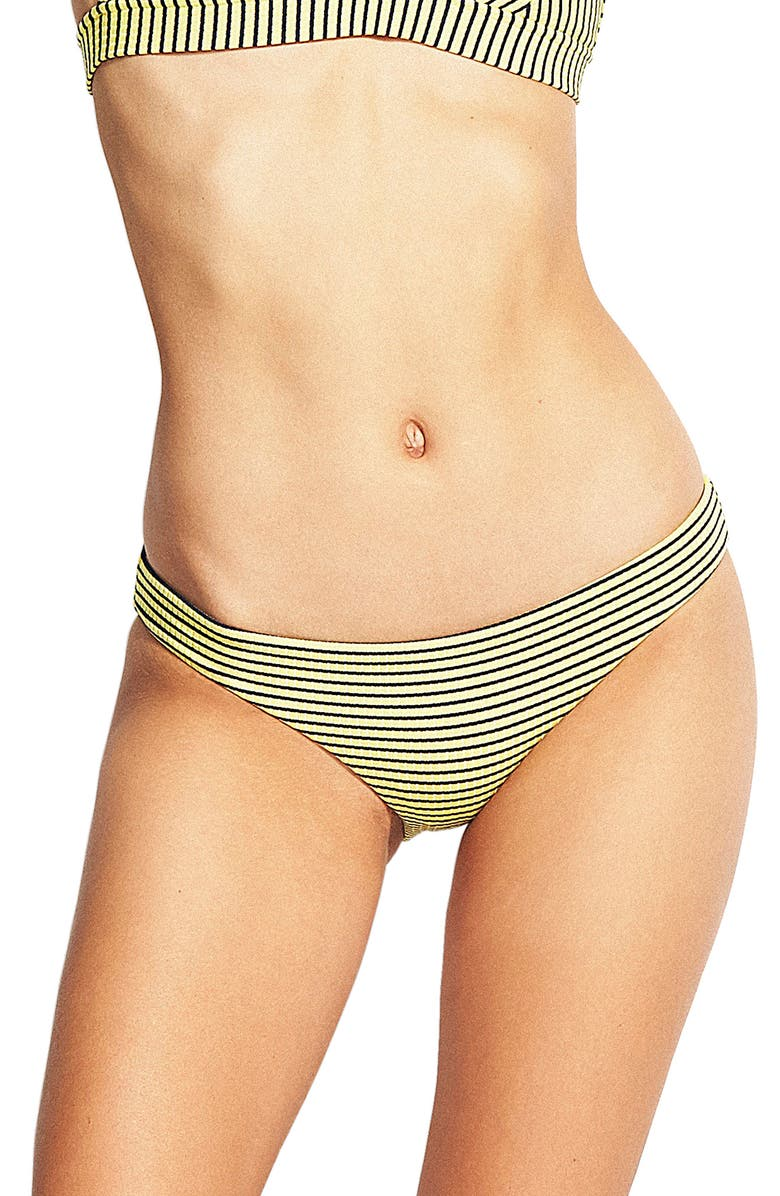 SEAFOLLY Go Overboard Striped Hipster Bikini Bottoms, Main, color, LIMELIGHT