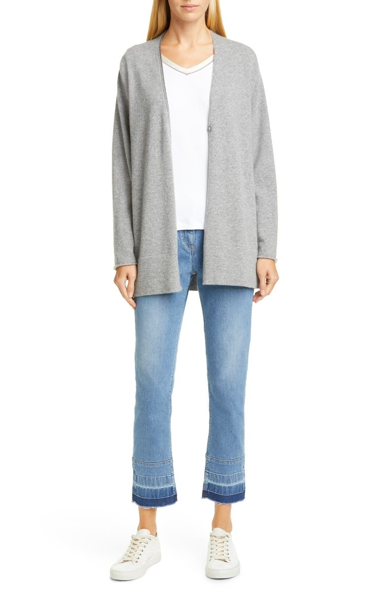 FABIANA FILIPPI Released Hem Straight Leg Jeans, Main, color, DENIM BLUE