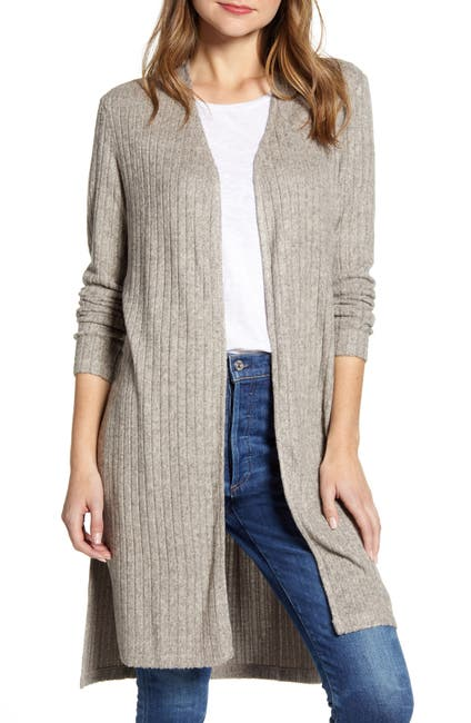 Image of Bobeau Ribbed Cardigan