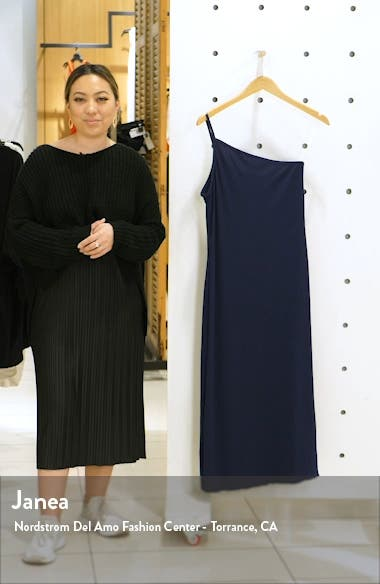 Shoreline Ribbed One-Shoulder Cover-Up Dress, sales video thumbnail