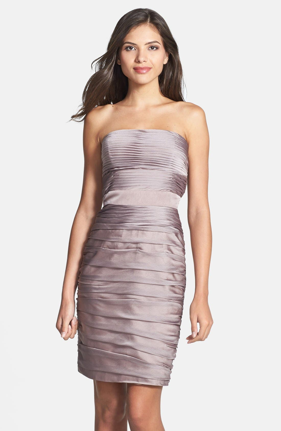 ,                             Ruched Strapless Cationic Chiffon Dress,                             Main thumbnail 17, color,                             262