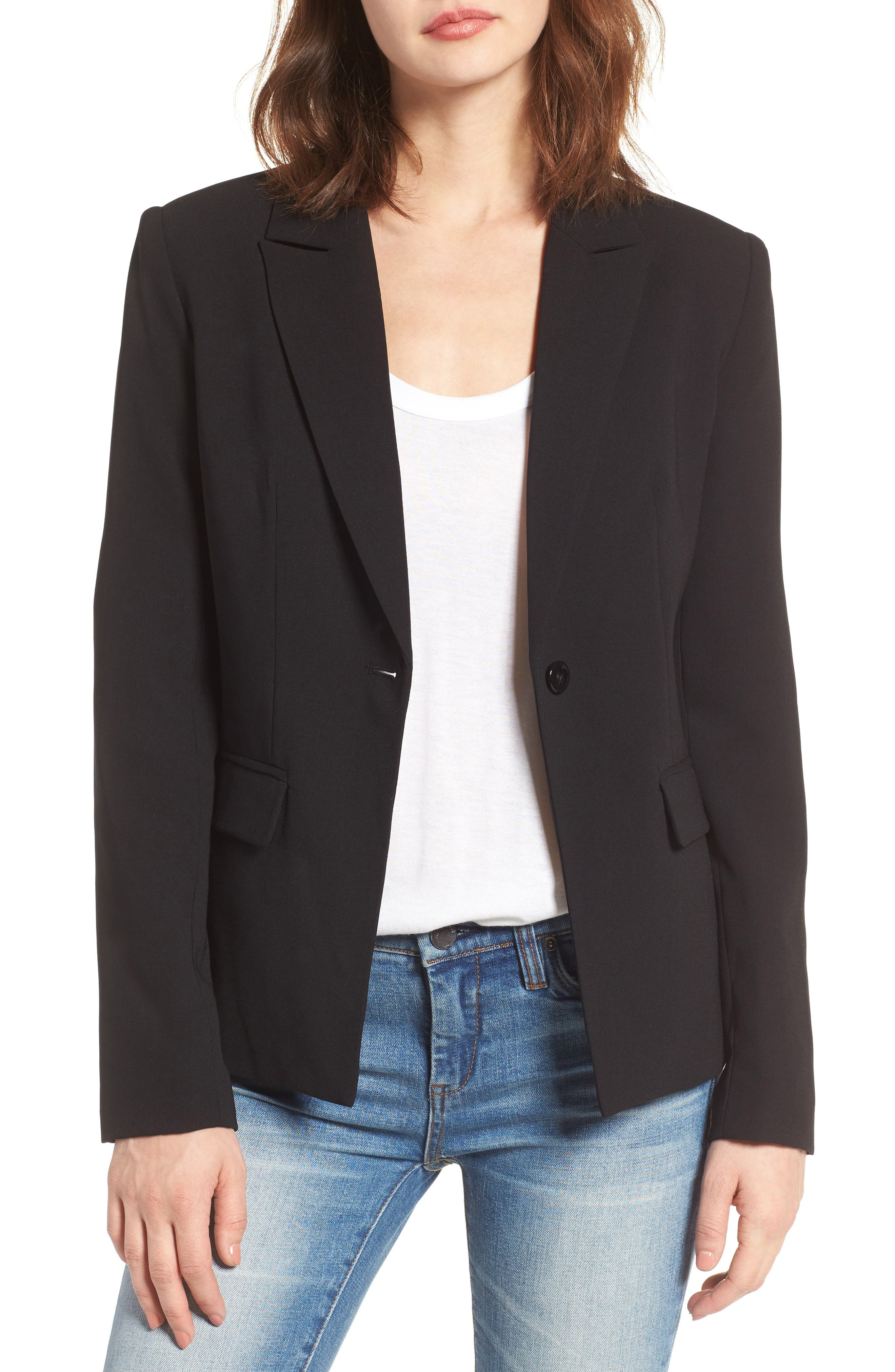 ,                             Structured Blazer,                             Main thumbnail 1, color,                             001