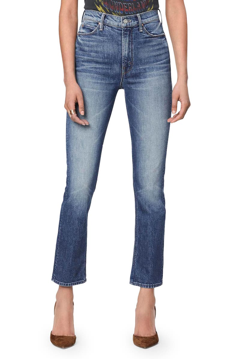 MOTHER The Dazzler Ankle Straight Leg Jeans, Main, color, COWBOYS DONT CRY