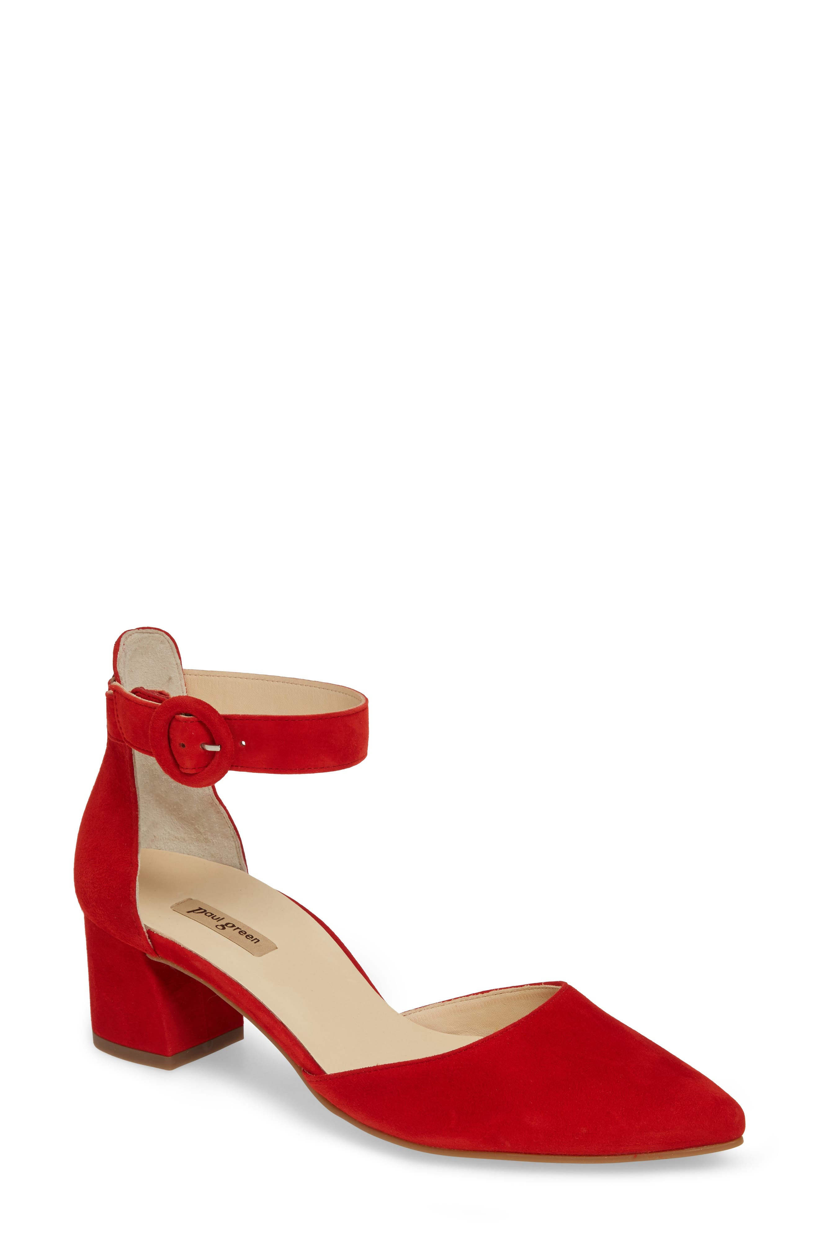 59fc6001a0 Paul Green Annie Ankle Strap PumpUS /4UK - Red