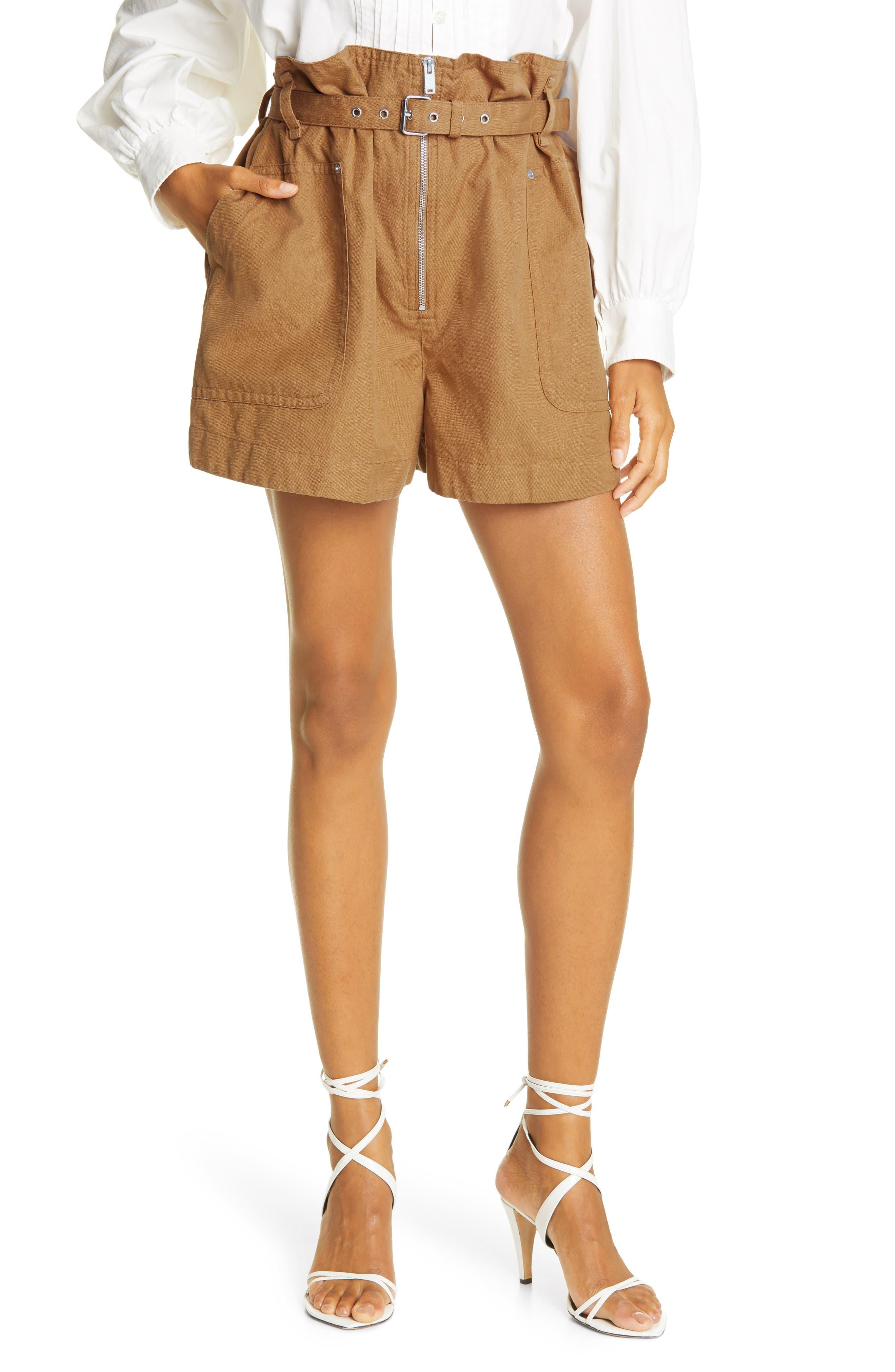 Women's Isabel Marant Etoile Parana Cotton & Linen Shorts