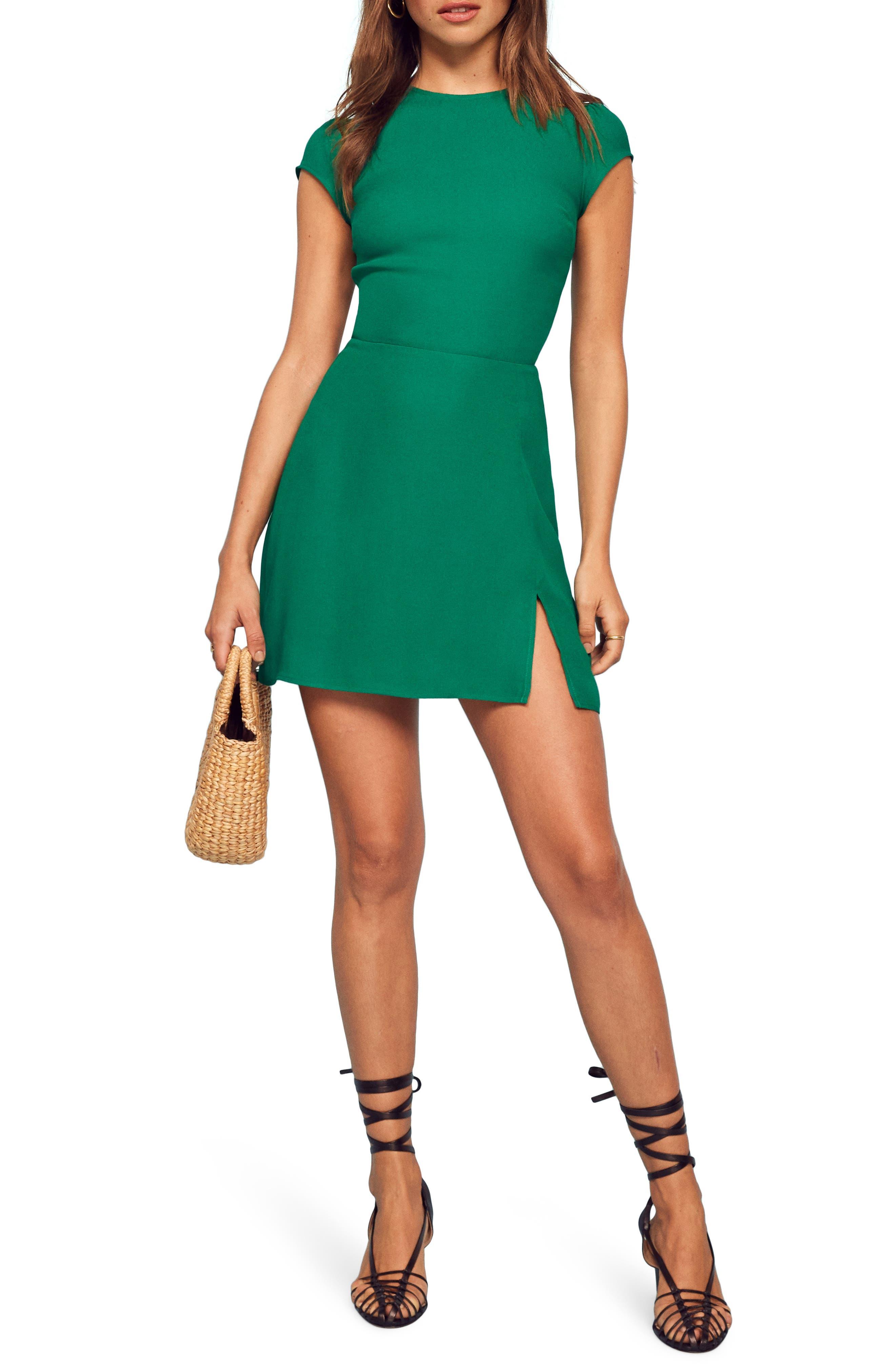 Reformation Lena Sheath Dress, Green