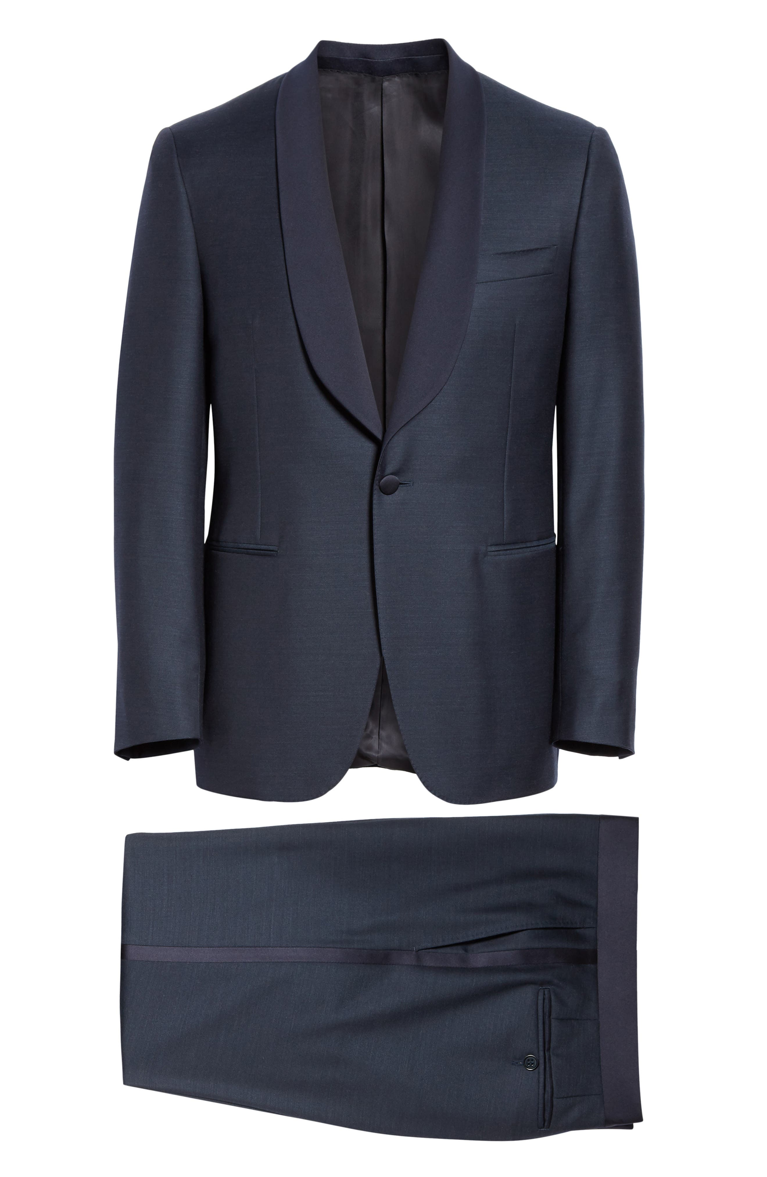 ,                             Venieza Classic Fit Wool Tuxedo,                             Alternate thumbnail 8, color,                             NAVY