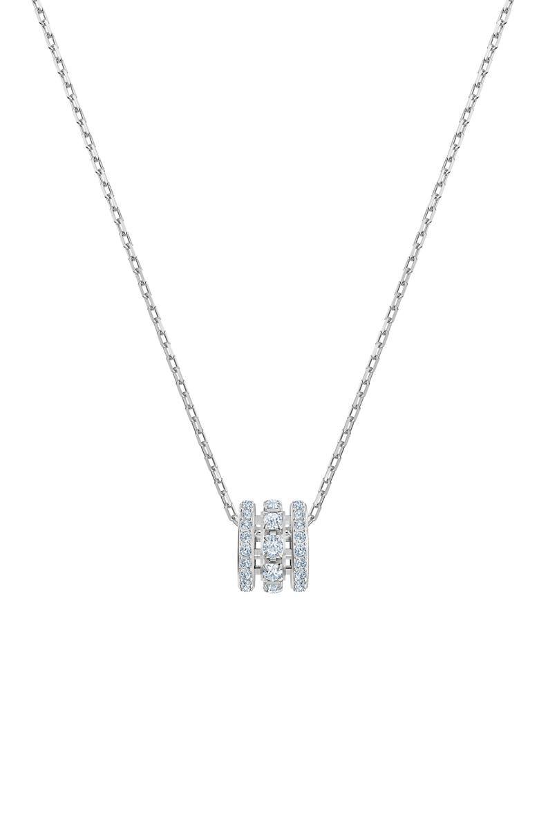 SWAROVSKI Further Pendant Necklace, Main, color, SILVER