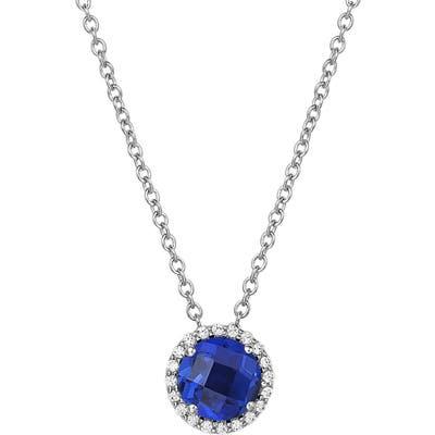 Lafonn Birthstone Halo Pendant Necklace
