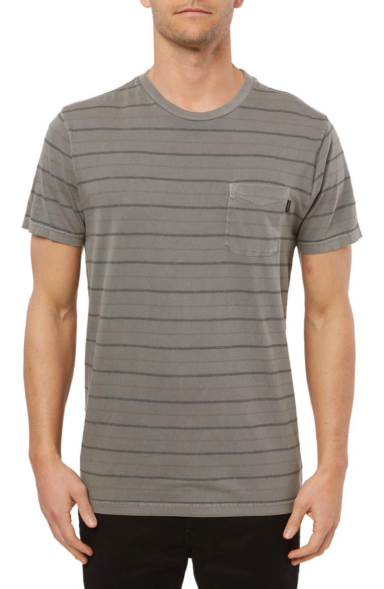 O'NEILL Detroit Dinsmore Crew T-shirt, Main, color, GREY
