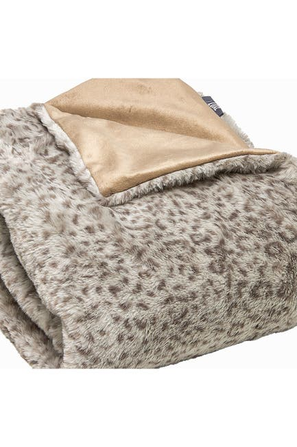 "Image of LUXE Faux Fur Throw - 50"" x 60"" - Lynx"
