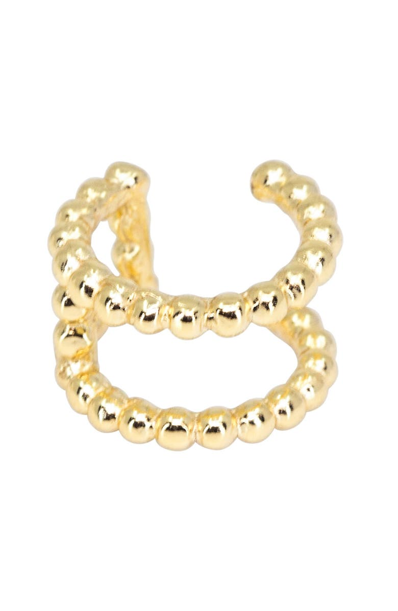 RAGEN JEWELS Double Band Ear Cuff, Main, color, GOLD