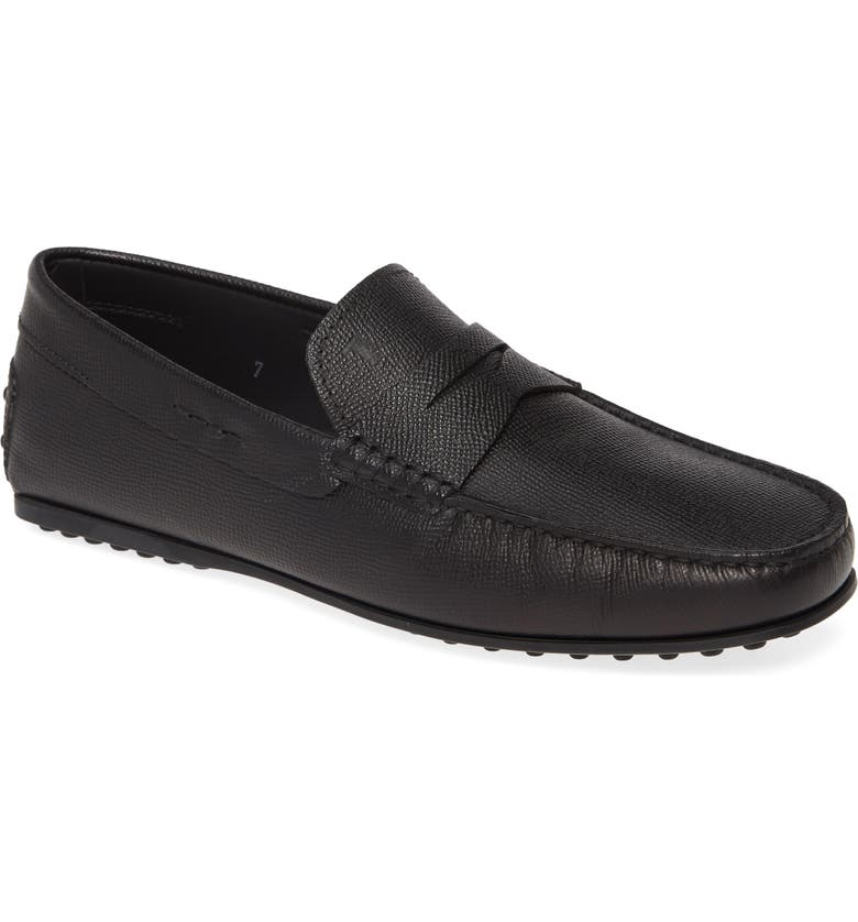 TOD'S City Penny Driving Shoe, Main, color, 001