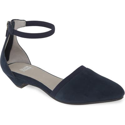 Eileen Fisher Ivie Ankle Strap Pump- Blue