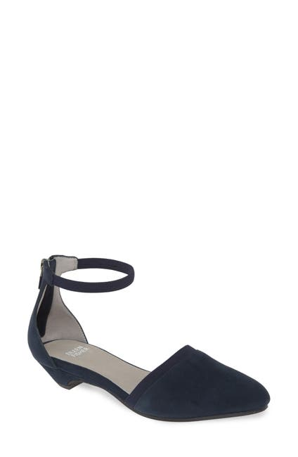 Image of Eileen Fisher Ivie Leather Ankle Strap Pump