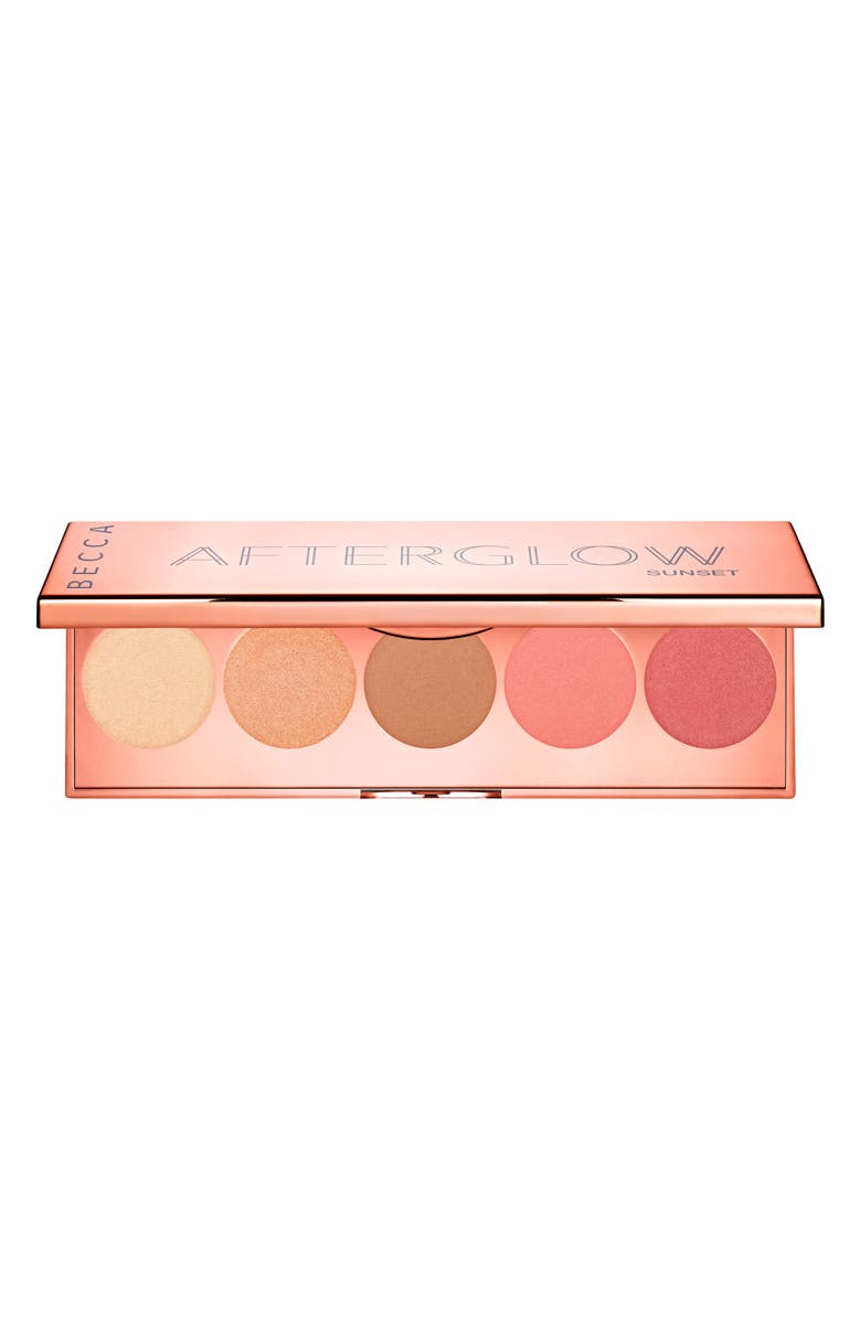 BECCA COSMETICS BECCA Afterglow Palette, Main, color, 000