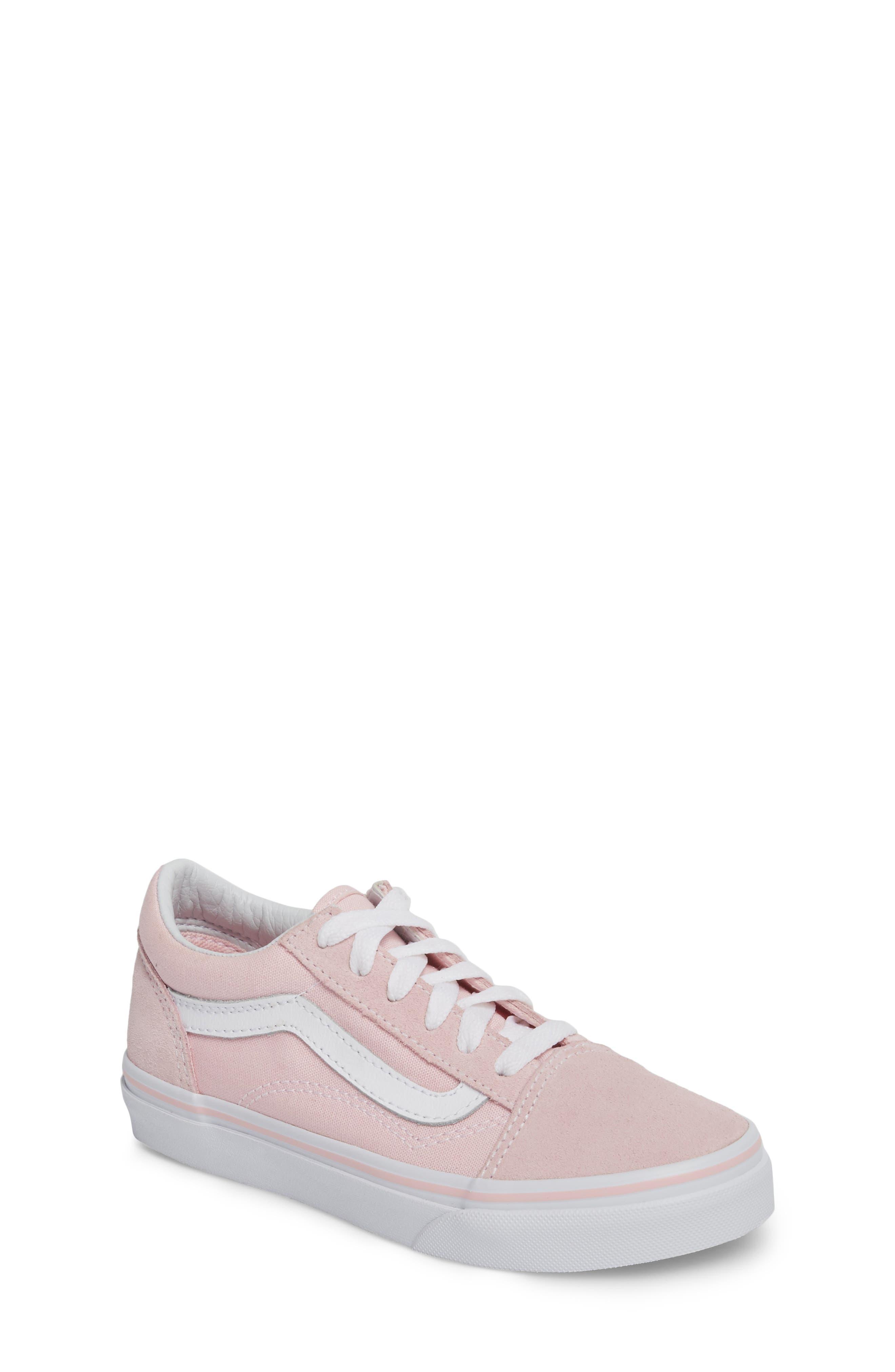 ,                             Old Skool Sneaker,                             Main thumbnail 1, color,                             CHALK PINK/ TRUE WHITE