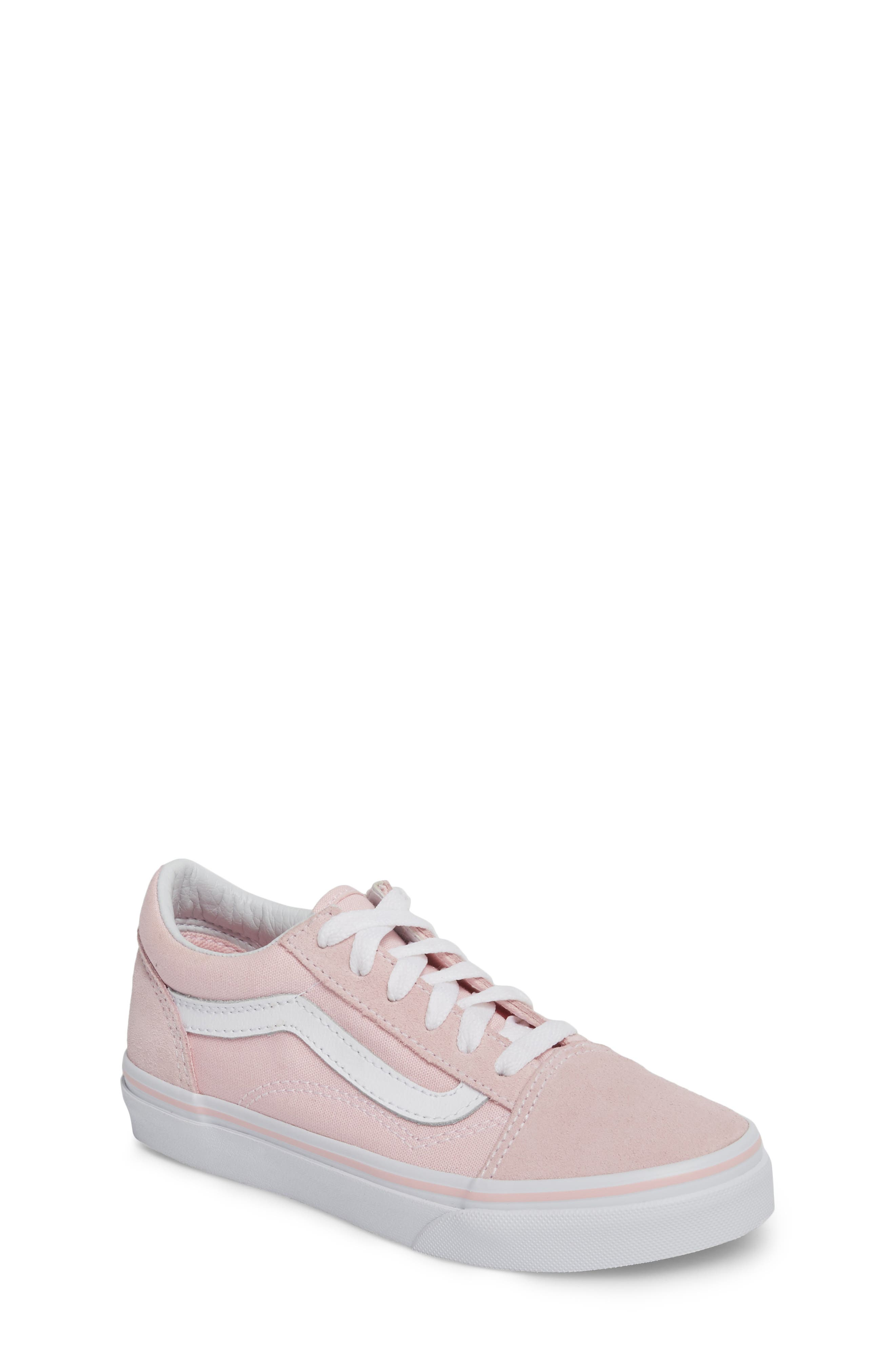 Old Skool Sneaker, Main, color, CHALK PINK/ TRUE WHITE