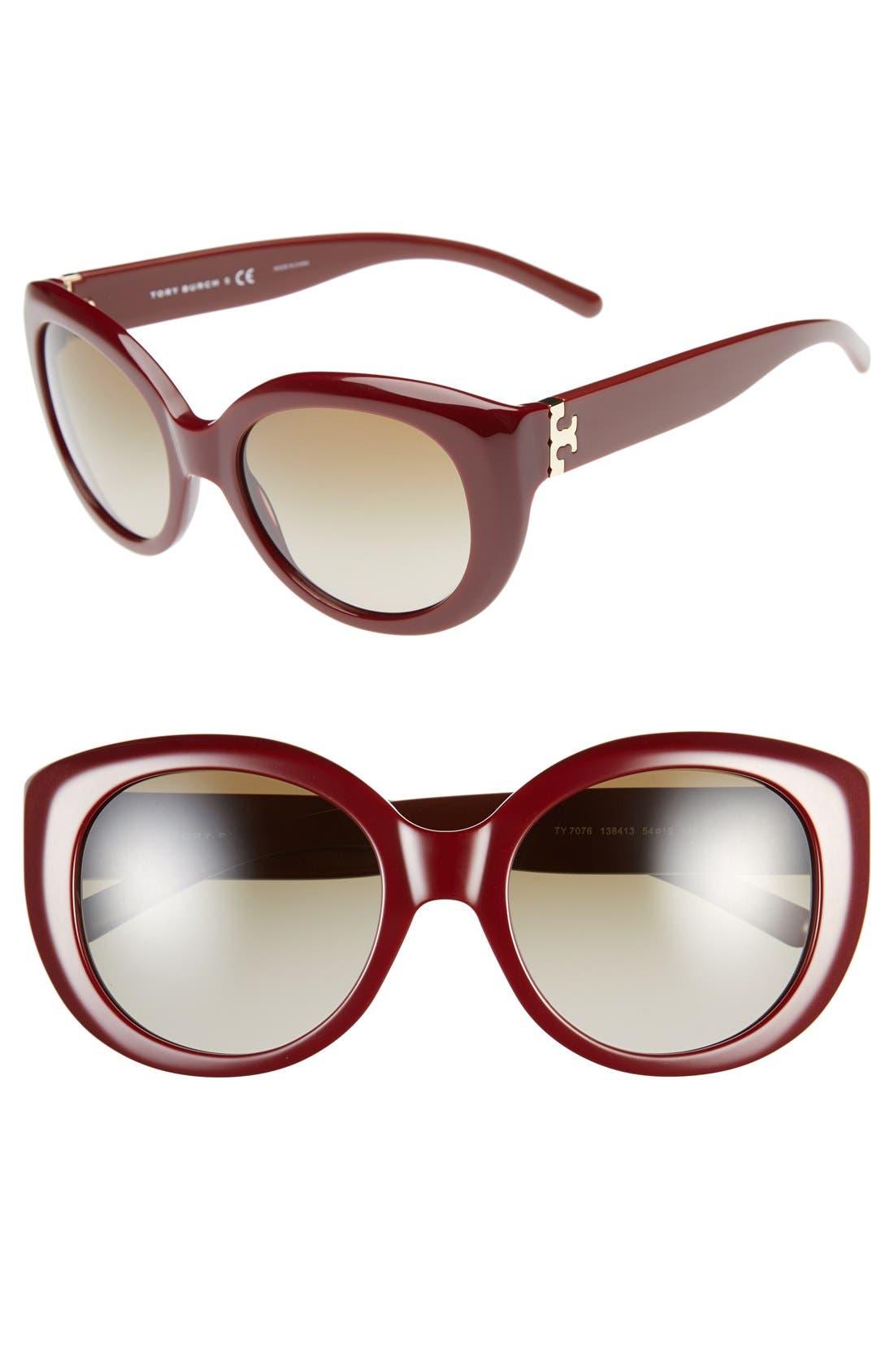 ,                             54mm Cat Eye Sunglasses,                             Main thumbnail 7, color,                             600