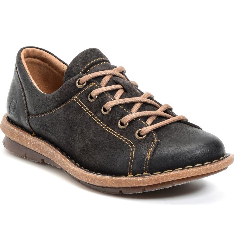 BØRN Trevan Water Resistant Sneaker, Main, color, DARK GREY DISTRESSED LEATHER